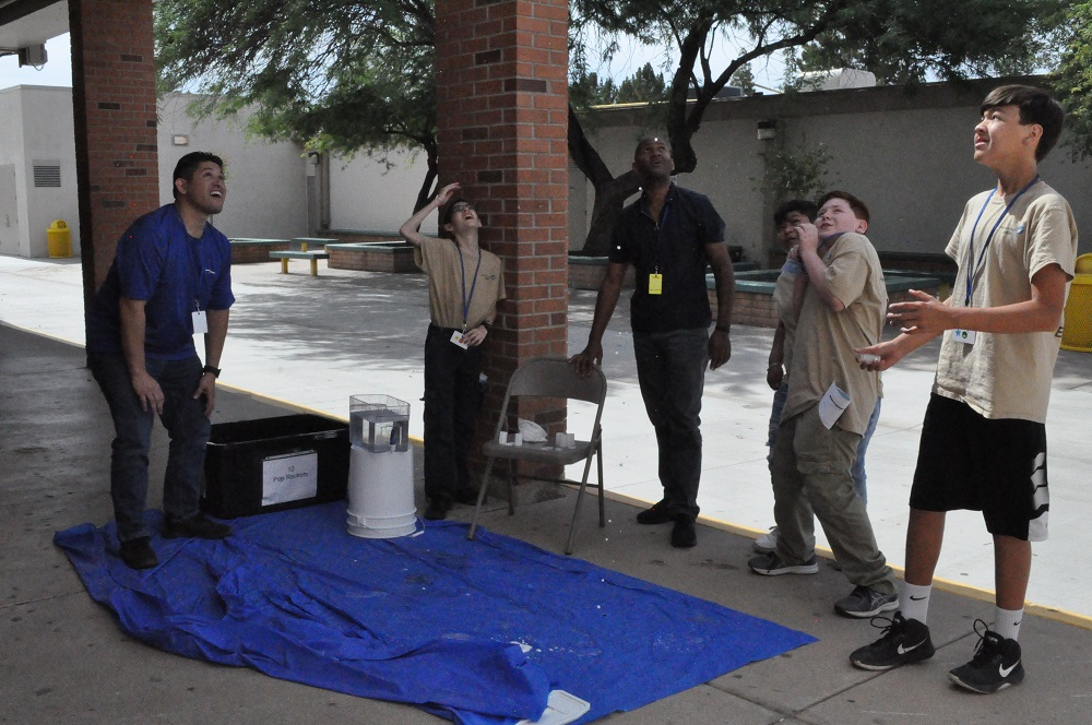 School's not out for teachers leading student activities Aerospace-Academy-Pop-Rockets