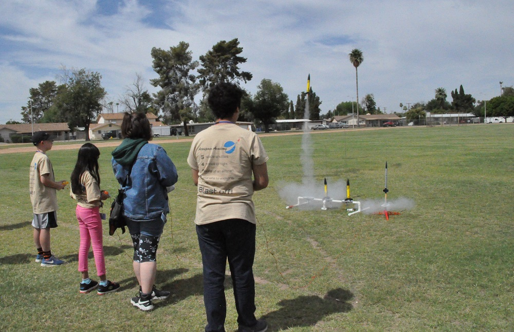 School's not out for teachers leading student activities Aerospace-Academy-Rocket-Launch-HP-2
