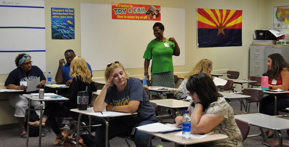Erica Maxwell Leads A Breakout Session On Connecting And Communicating With Students Of Color At The Breaking Barriers For Excellence Equity Symposium 2019 On June 5, 2019 At Hamilton High School In Chandler Unified School District. Photo By Lisa Irish/AZEdNews