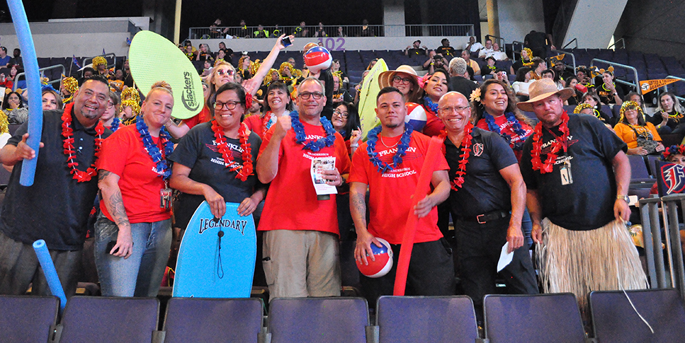 Teachers And Staff Of Franklin Police And Fire High School Celebrate At Phoenix Union High School's Convocation On Tuesday, July 30, 2019. Photo By Lisa Irish/AZEdNews