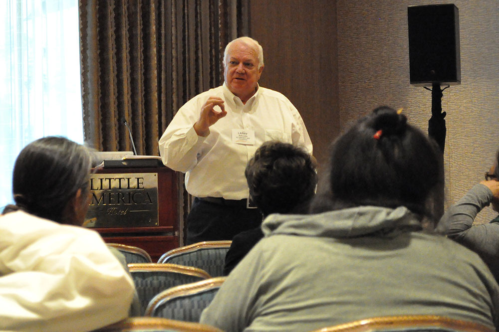 Larry Wallen Speaks To Workshop Particpants About Impact Aid At The Summer Leadership Institute On June 6, 2019 In Flagstaff. Photo By Lisa Irish/AZEdNews