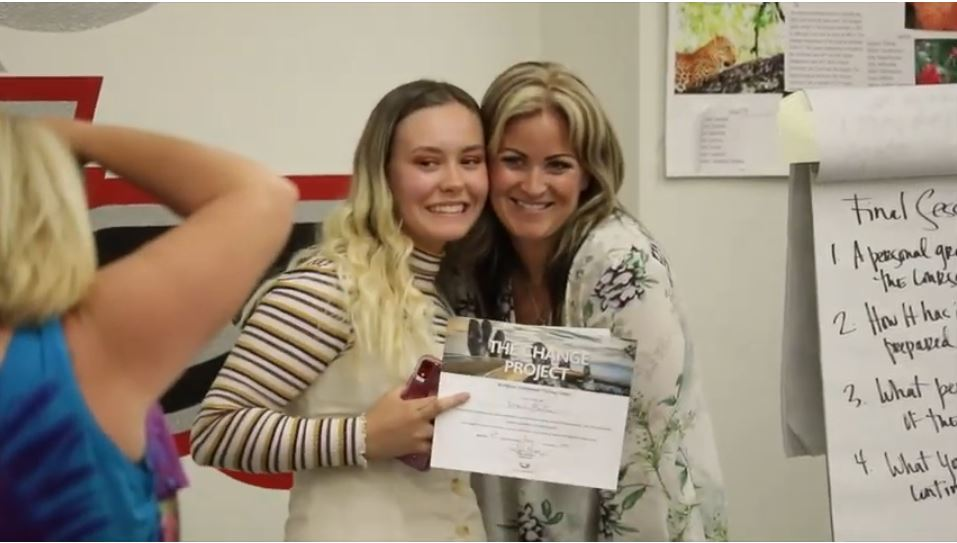 Student Nevi Hauptman, Left, And Erica Ballesteros, Right, Founder Of The Change Project Helps Students Learn Soft Skills And Ways To Deal With Challenges In The Workplace As Part Of A Program In Queen Creek Unified School District. Photo Courtesy Of The Change Project