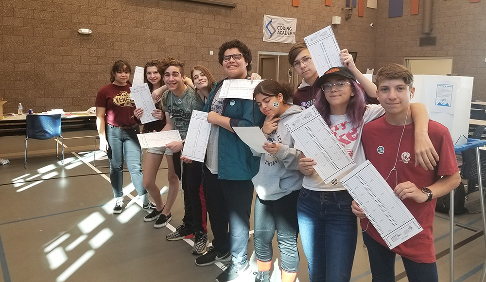 Phoenix Coding Academy Students Learn About Voting And Registering To Vote. Photo Courtesy Phoenix Union High School District