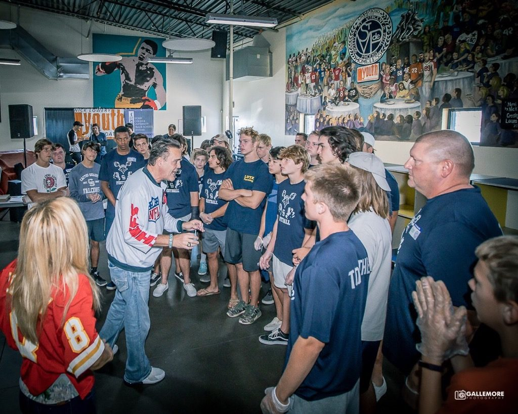 Cactus Shadows Falcon Football attends Nick Lowery's Champions for the Homeless Falcons-Football-1-1024x819