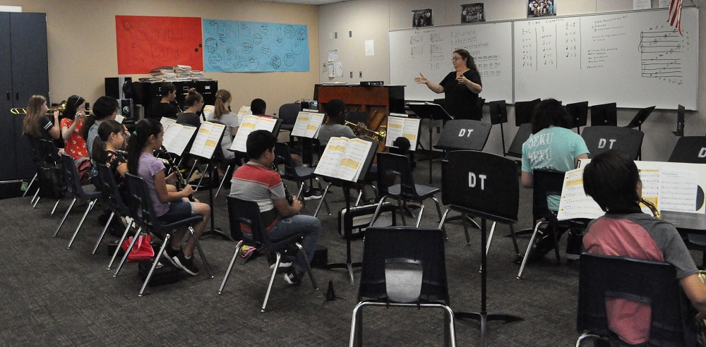 School's not out for teachers leading student activities Marietta-Swim-leads-Avondale-Summer-Band-Academy-2