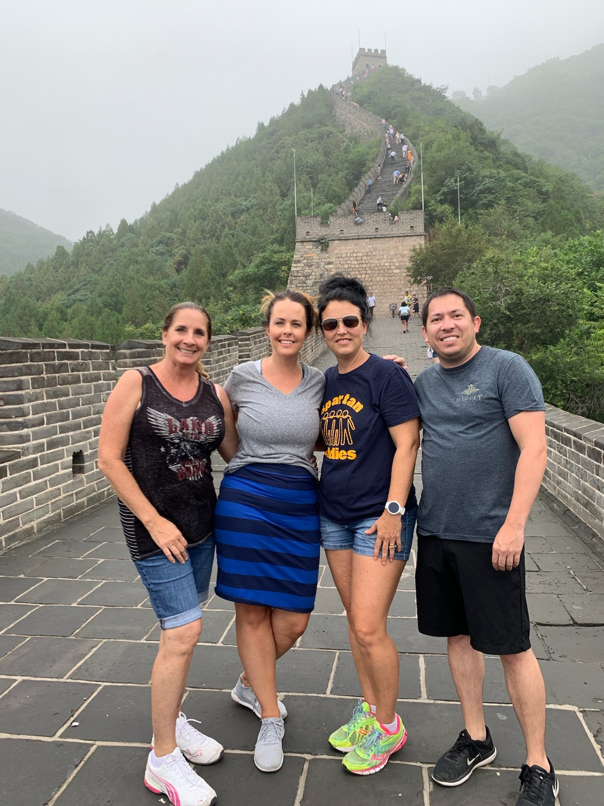 Higley Unified School District Teachers Kathy Kalinke From Power Ranch Elementary And Haleigh Rohner, Beth Knudsvig, And Brennan Hallock From Sossaman Middle School - Taught Students Various Subjects At A Summer Camp In Shijiazhuang, China. Photo Courtesy Of Higley Unified School District