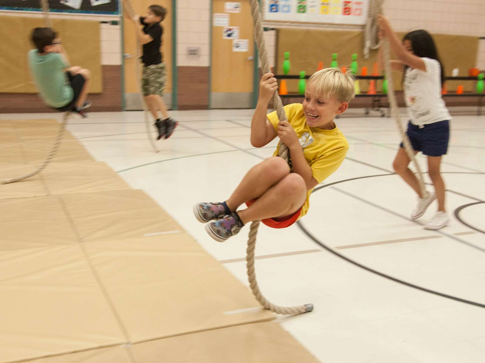 Students At Bush Elementary School Participate In Physical Education Class. Photo Courtesy Of Tim Hacker/Mesa Public Schools
