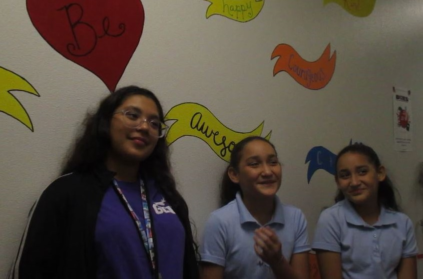 Jasmine, Yestalyn And Shestalyn, Desert Oasis Students Trained In Mediation, Talk About How Restorative Justice Helps At Their School. Photo By Angelica Miranda/AZEdNews