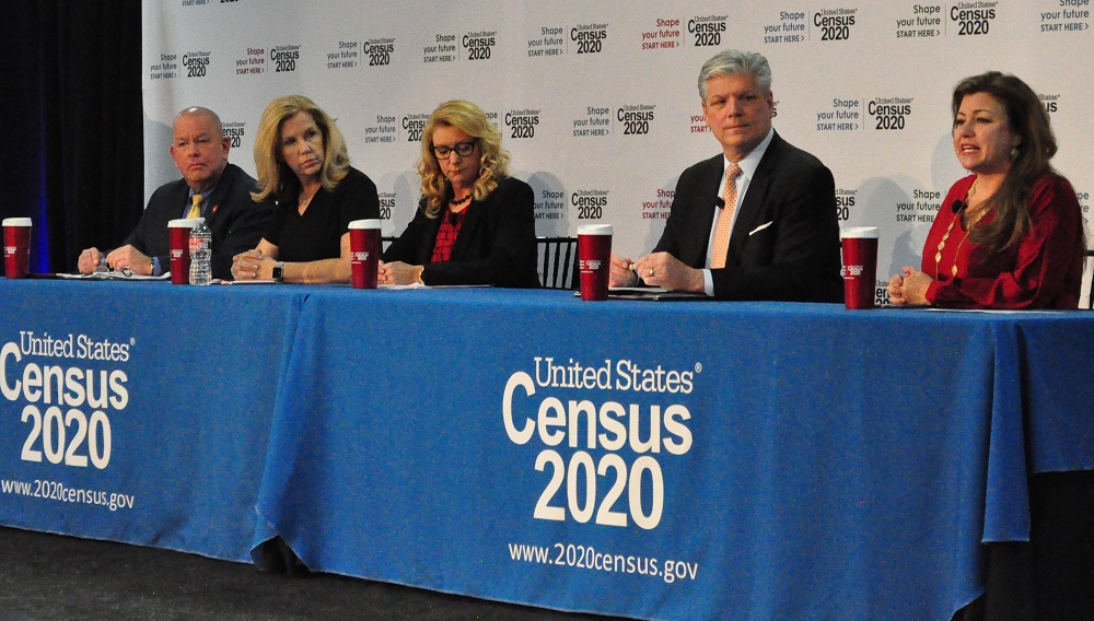 From Left To Right: Timothy Olson, Debbie Johnson, Dana Marie Kennedy, Brian Manderfield, And Monica Villalobos During A Panel Discussion At The 2020 Census Recruitment Kickoff Event In Phoenix On Oct. 22, 2019. Photo By Lisa Irish/AZEdNews