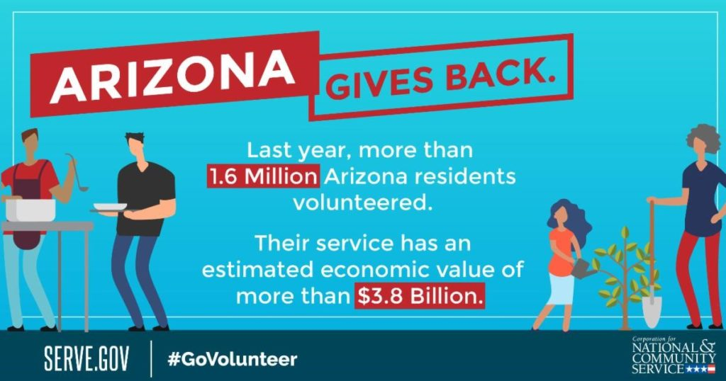 Take part in a Day of Service project to celebrate Dr. Martin Luther King Jr. Day Arizona-Gives-Back-infographic-1024x538