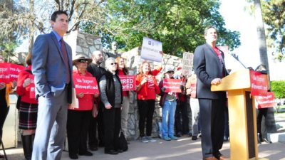 Proposal would give Virginia teachers an alternative to Pinterest to find online classroom materials David-Lujan-and-Joe-Thomas-at-Invest-in-Ed-Press-Conference-by-AZEdNews-400x225