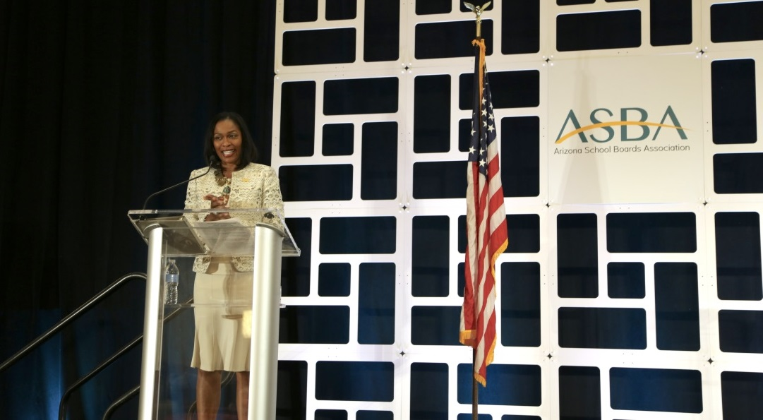 Building Relationships With Other Education Advocates Is A Key Priority For Arizona School Boards Association's New Executive Director Dr. Sheila Harrison-Williams, Who Spoke At ASBA's Annual Conference On Dec. 19, 2019. Photo Courtesy Brooke Martinez/ ASBA