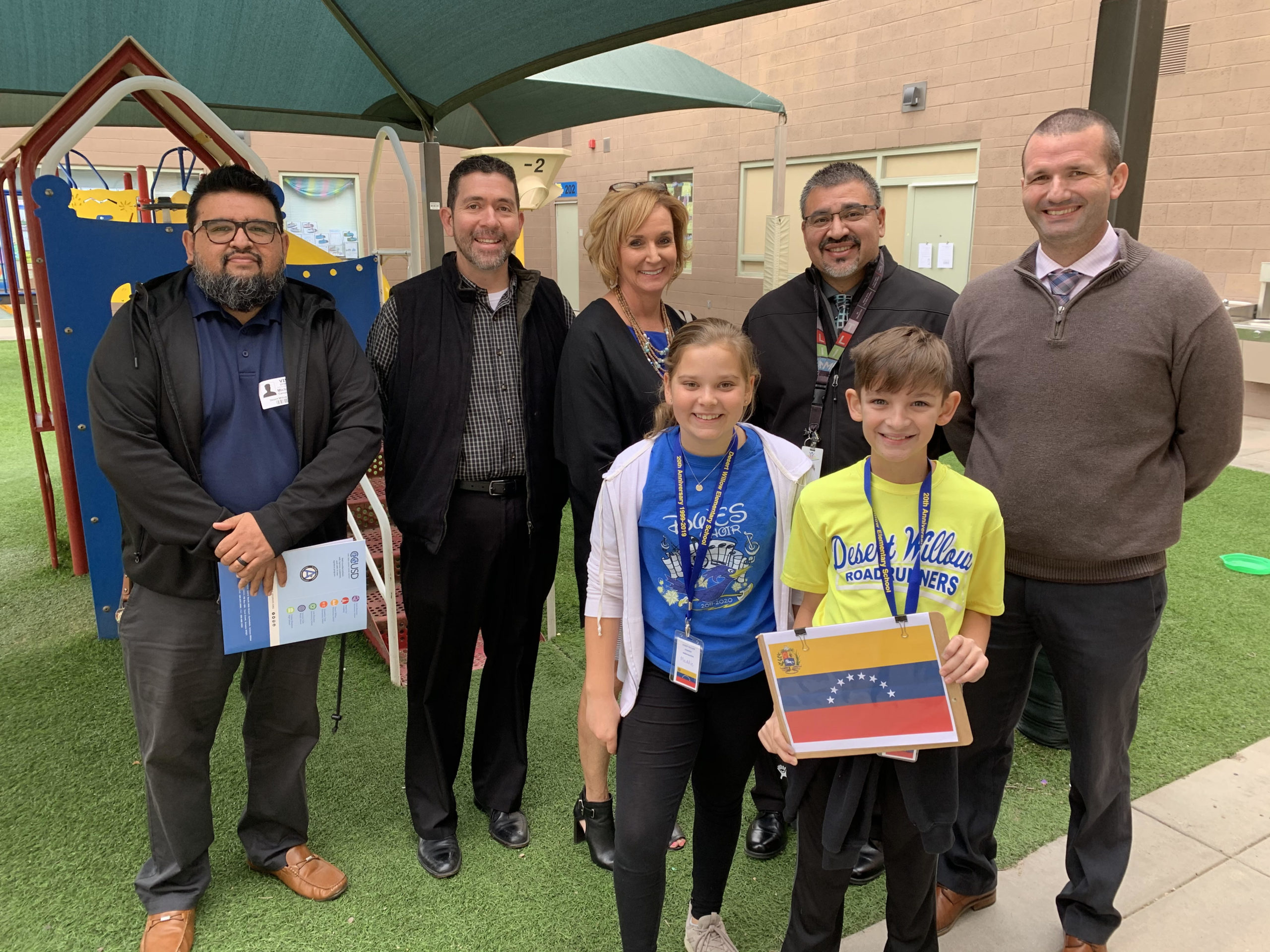 Desert Willow Students Take Visitors Through Spanish Immersion Classrooms During The Embassy Of Spain Tour Day. Visitors Here Were From Kyrene, Laveen, Higley And Phoenix School Districts. Photo Courtesy Of Cave Creek Unified School District