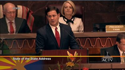 Proposal would give Virginia teachers an alternative to Pinterest to find online classroom materials Gov-Ducey-Rusty-Bowers-and-Karen-Fann-at-State-of-the-State-2020-by-AZ-Capitol-TV-400x225