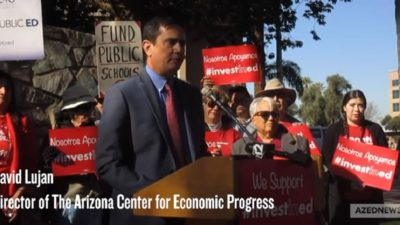 The teachers' strike gripped LA for 6 days. A year later, what are the results? HP-David-Lujan-Invest-in-Ed-Inititive-Press-Conference-400x225