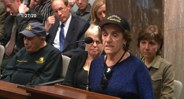 """Some Of Us Holocaust Survivors Are Getting Up In Age, And They Won't Be Here For A Long Time To Tell About It,"" Said Theresa Dulgov, A Holocaust Survivor From Hungary Who Has Taught For More Than 30 Years, Many Of Them In Sunnyside Unified School District In Tucson. Photo By Arizona Capitol Television"