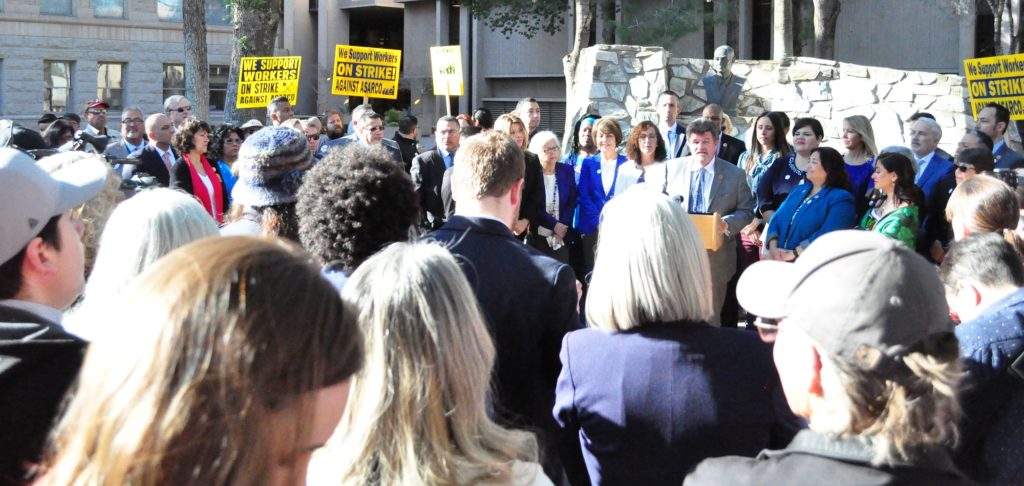 Arizona Democratic leaders' priorities for the session Rep-David-Bradley-and-Crowd-1024x486