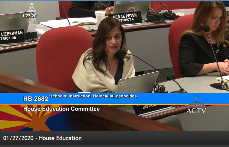 Holocaust education bill unanimously approved by House Education Committee Rep-Isela-Blanc-Holocaust-bill