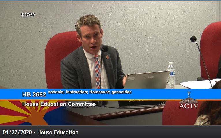 Holocaust education bill unanimously approved by House Education Committee Rep-Lieberman-on-Holocaust-bill