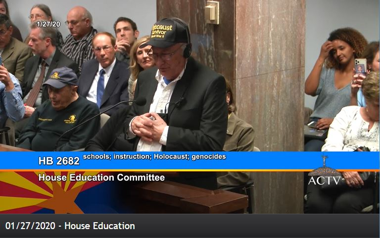 Holocaust education bill unanimously approved by House Education Committee Sydney-Finkel-holocaust-survivor