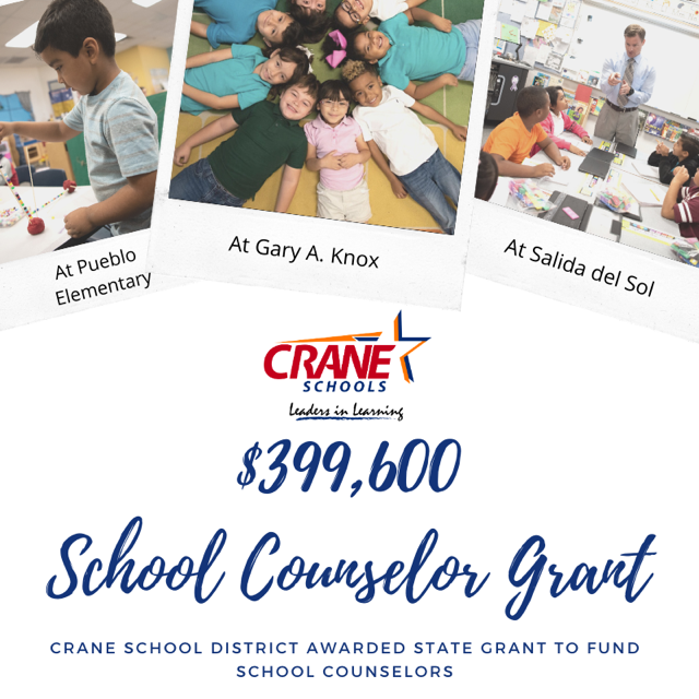 Crane Elementary School District #13 Has Been Awarded The Highly Competitive School Safety Expansion Grant, Which Will Provide Over $399,600 To Three Schools.