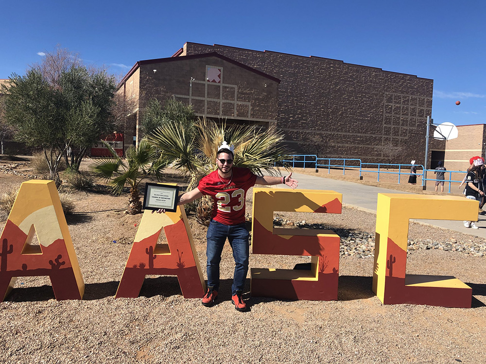 Joseph Scott, Rio Rico High School (RRHS) Math Teacher And Student Council (StuCo) Advisor Has Been Elected To The Arizona Association Of Student Council (AASC) Executive Board. Photo Courtey Of Santa Cruz Valley Unified School District No. 35 (SCV35)