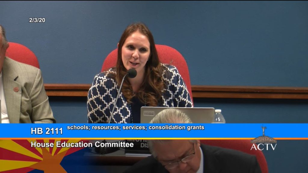 House Ed approves $10M grant to consolidate school resources, services Rep-Michelle-Udall-on-HB-2111-1024x578