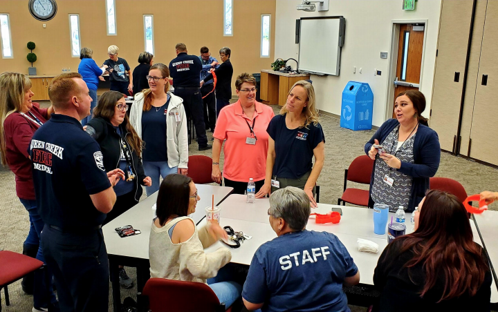 Teachers Learn How To Stop The Bleed.