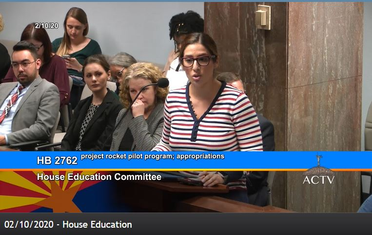 Appropriations passes Project Rocket bill as amended Stephanie-Ibarra-with-AEA