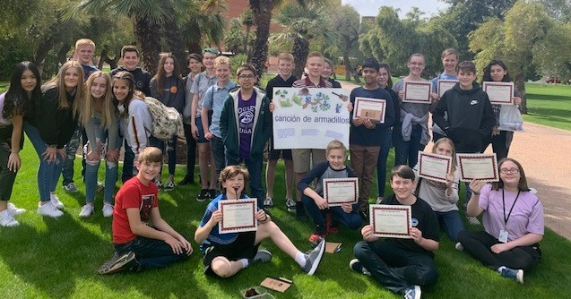 CCooley Middle Students Earn Honors At International Language Fair At Arizona State University. Photo Courtesy Higley Unified School District