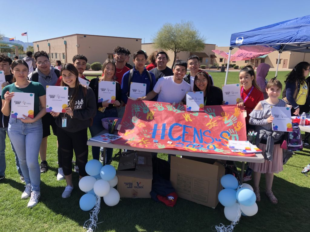 Students use census data in class, share its importance at home Jasmine-Zavala-students-campaign-at-La-Joya-on-importance-of-Census-1024x768