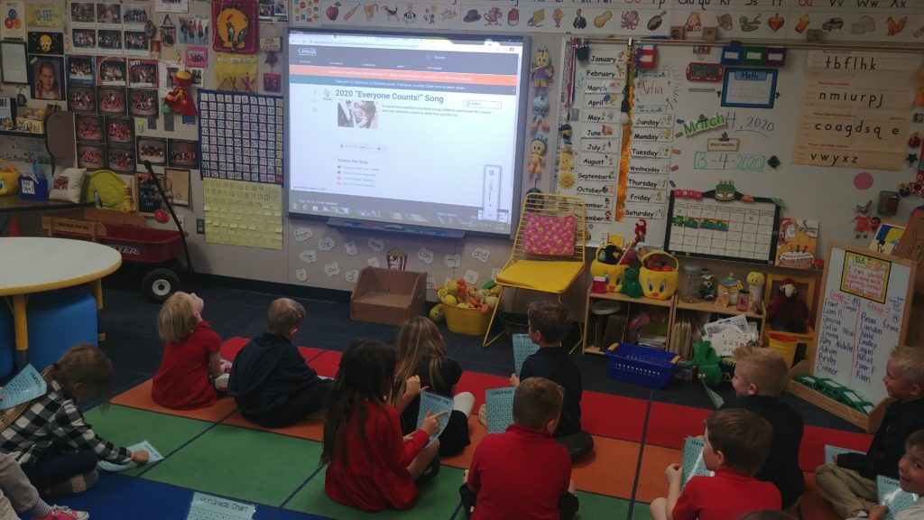 Students use census data in class, share its importance at home Ms-Pauls-kindergarten-class-doing-census-activities-1024x576