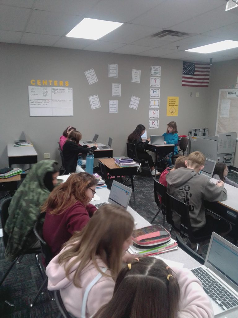 Students use census data in class, share its importance at home Ms-Wilcoxon-5th-graders-768x1024