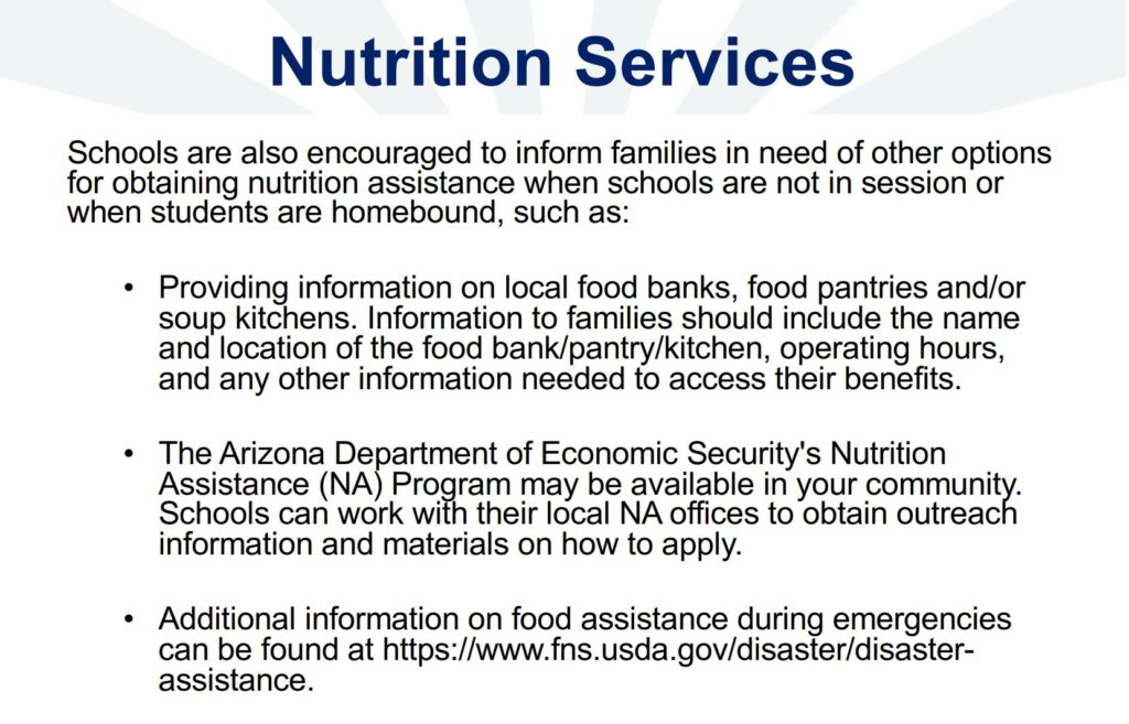 Coronavirus response: Cases rise; AZ Day of Giving Other-options-for-nutrition-services-1024x657