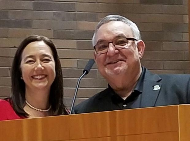 Erin Gruwell, Left, With Rick Miller, Right. Photo Courtesy Kids At Hope