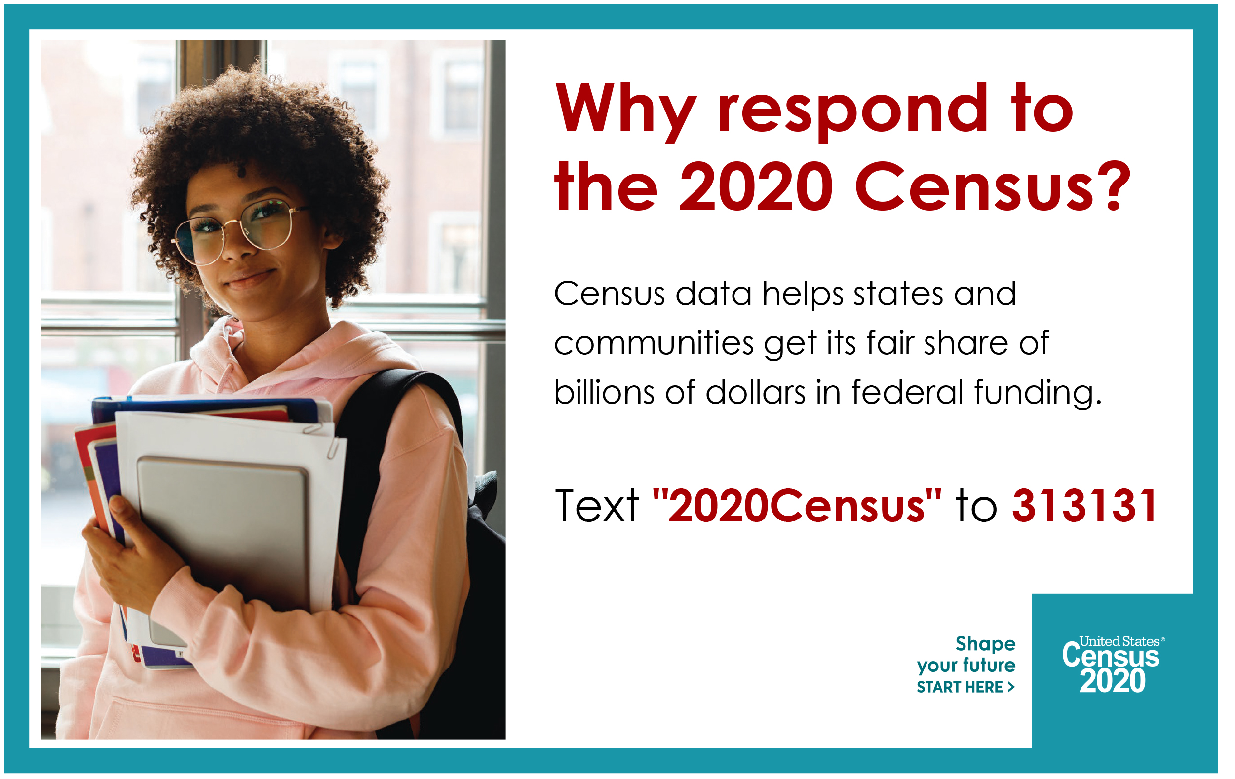 Respond To The Census By Text Graphic