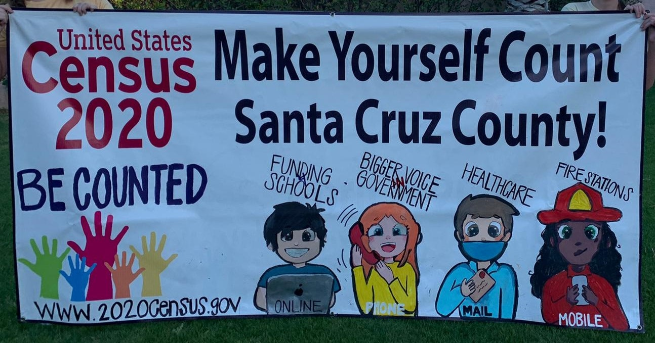 Santa Cruz County students repurpose banners to encourage census participation 2020-Census-Banners_Santa-Cruz-County_2