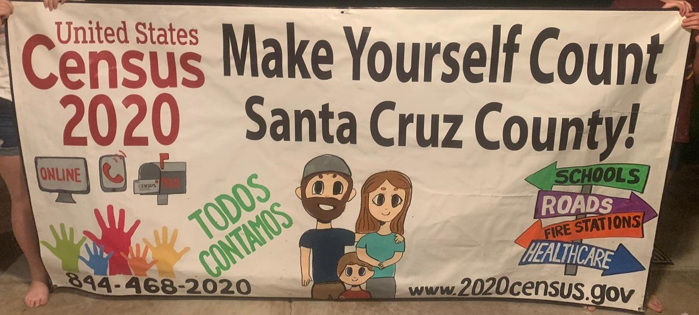 Santa Cruz County students repurpose banners to encourage census participation 2020-Census-Banners_Santa-Cruz-County_4