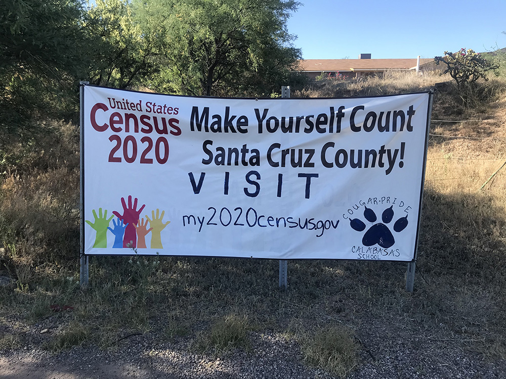 A Bold Pitch To Boost School Funding For The Nation's Most Vulnerable Students 2020-Census-Banners_Santa-Cruz-County_Banner-on-street