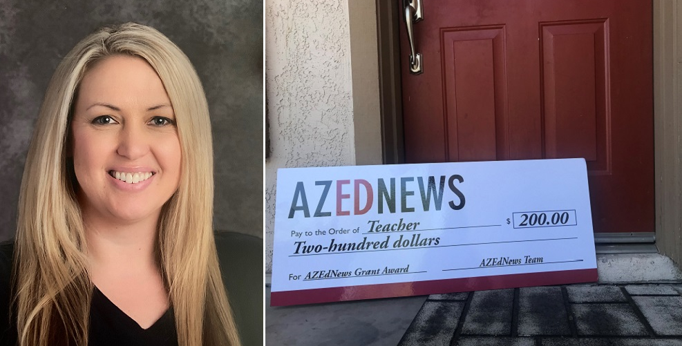 Palomino Intermediate School Teacher Jennifer Jordan Will Use The AZEdNews Classroom Grant To Provide STEM For Students On Half-days. Photo Courtesy Jennifer Jordan