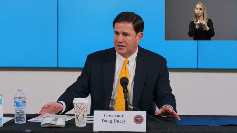 Gov. Doug Ducey Says Arizonans Need To Take Action To Reduce COVID-19 Cases During A June 25, 2020 News Conference. Photo Courtesy Of Arizona Dept. Of Health Services