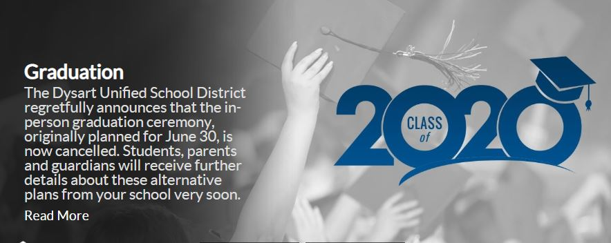 Dysart Unified In Person Graduation Ceremony Cancelled