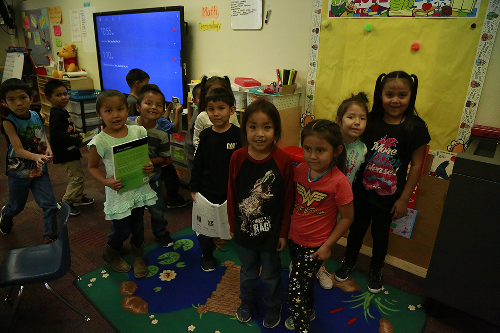 Kayenta Unified School District Students In Their Classroom. Photo By Brooke Martinez/ ASBA