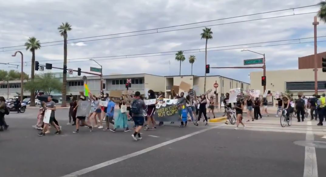 Phoenix Union High School District Students Protest The Presence Of Police On Campus On Friday, June 5. Photo Courtesy Chelsea Hoffman/ The Arizona Republic