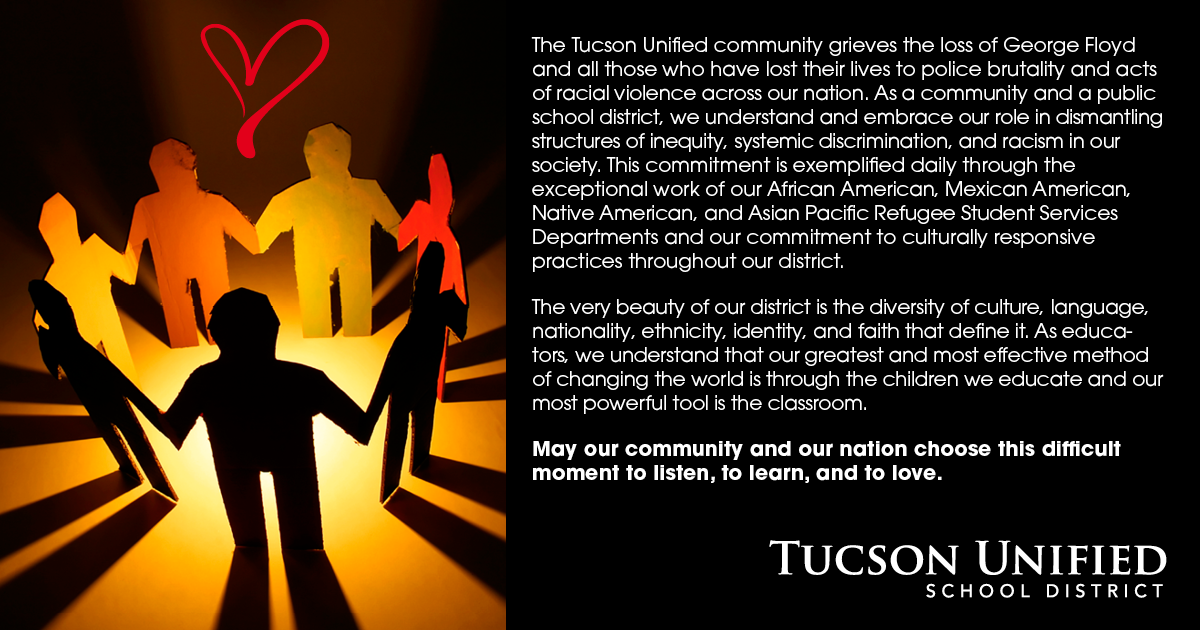 Arizona schools, students take action after protests for justice and reform Tucson-Unified-Statement-English