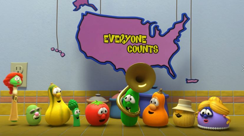 It's Critical For Every Child To Be Counted In The 2020 Census, Given The Count's Impact On Funding For Schools, Health Care Services, Food And Housing Assistance, And More In Communities Nationwide. That's Why We're Providing A Fun, New Way You Can Promote The Count To Adults With Young Children In Their Home: A Video Featuring Children's Favorite VeggieTales Characters. Photo Courtesy U.S. Census Bureau