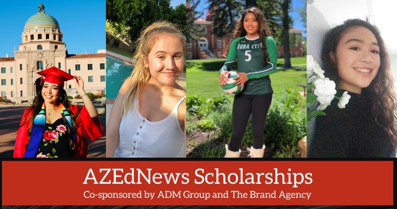 AZEdNews Scholarship Winners Airam Bravo, Meagan Ballew, Gracie Henderson And Miki Ysaguirre