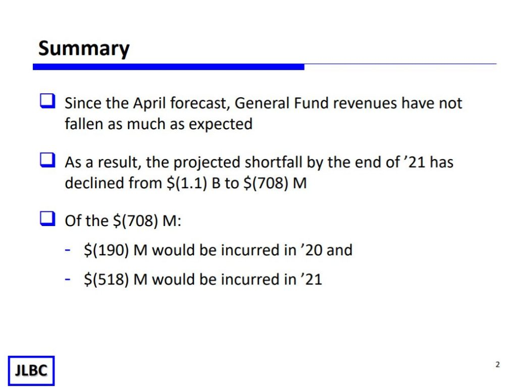 JLBC: Budget shortfall less than predicted JLBC-SLIDE-1-1024x767