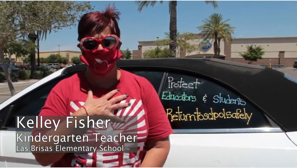 Kelley Fisher Talks About Why Teachers Are Hesitant To Head Back To The Classroom On Aug. 17, 2020 As COVID-19 Cases In Arizona Continue To Rise. Photo Courtesy Mary Irish/AZEdNews