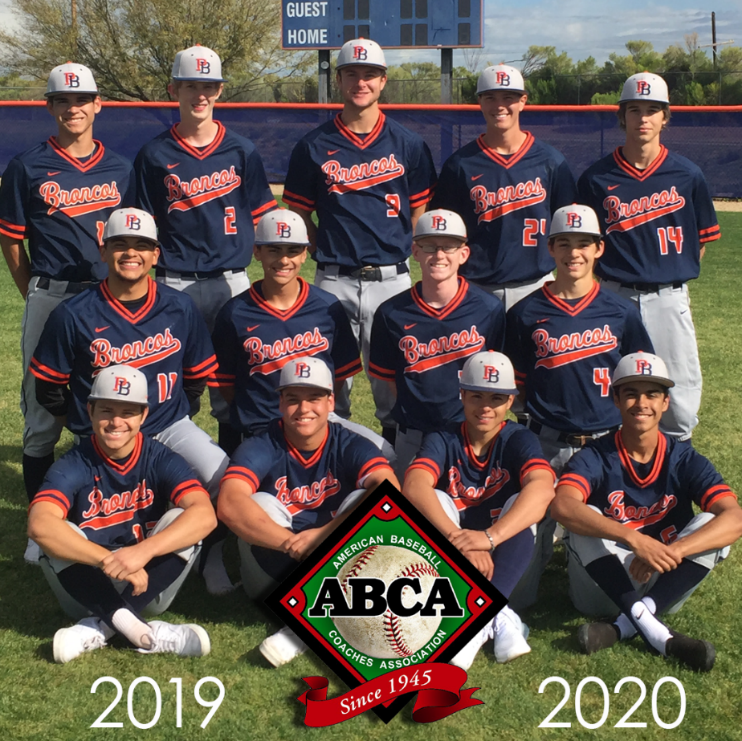 Poston Butte High School Baseball Program Was Selected Yesterday As A Recipient Of The ABCA Team Academic Excellence Award. Photo Courtesy Florence Unified School District